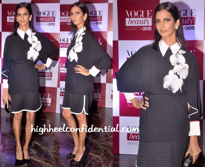 Poorna Jagannathan In Fendi At Vogue Beauty Awards 2015