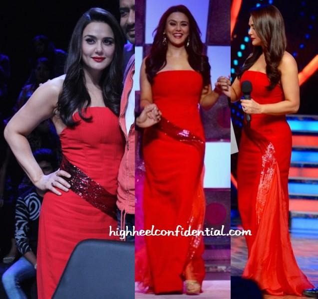 Preity Zinta Wears Georges Chakra To Nach Baliye Sets-1
