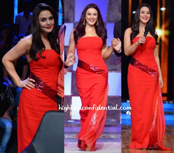 Preity Zinta Wears Georges Chakra To Nach Baliye Sets-2
