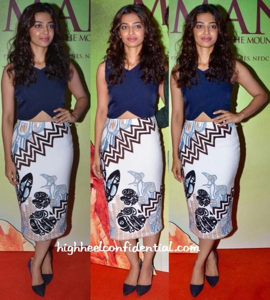 Radhika Apte In Madison And Babita Malkani At Manjhi Mountain Man Trailer Launch
