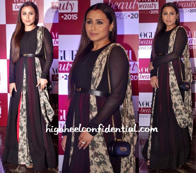 Rani Mukherjee In Sabyasachi At Vogue Beauty Awards 2015