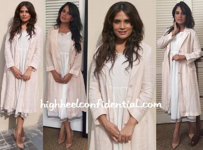 Richa Chadha Promotes Masaan Wearing Payal Khandwala And Eka-1