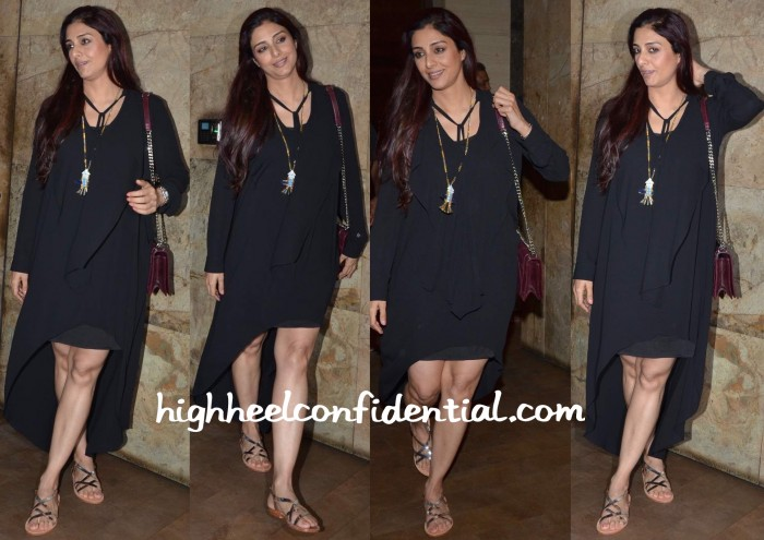 Tabu at bajrangi bhaijaan screening in bcbg valliyan dior and sanchita