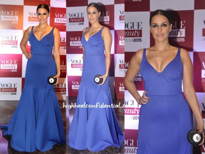 neha-dhupia-gauri-nainika-vogue-beauty-awards-2015