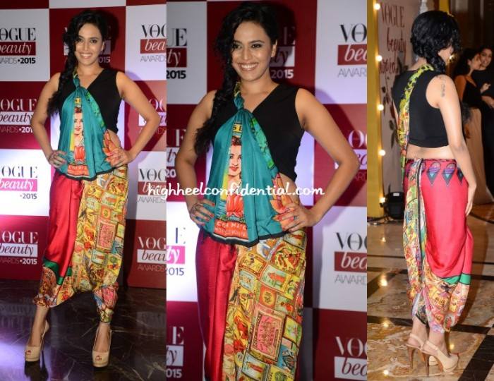 swara-bhaskar-radio-rani-vogue-beauty-awards-2015