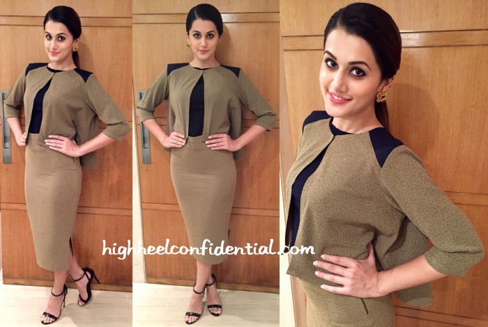 taapsee pannu in Ruvya by Ruchika and Divya at bliss led launch chennai