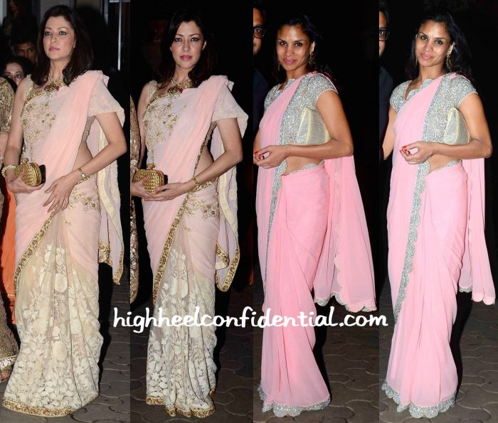 Aditi Govitrikar And Pratima Gaurav At Queenie Singh-Rishi Sethia Wedding Bash