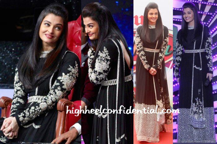 Aishwarya Rai at Dance India Dance Sets for Jazbaa Promotions-1