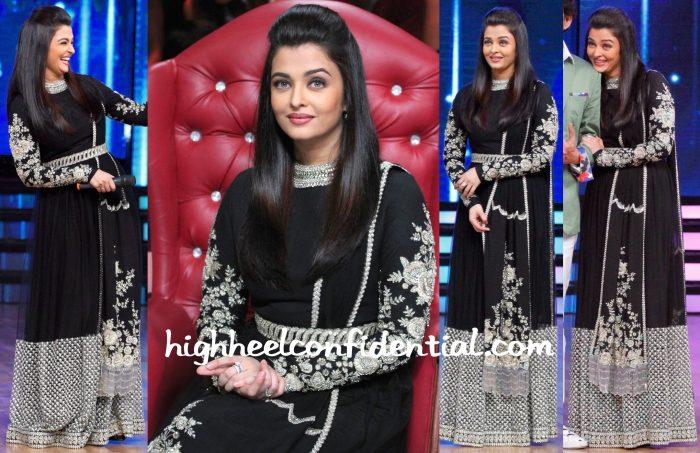 Aishwarya Rai at Dance India Dance Sets for Jazbaa Promotions-2