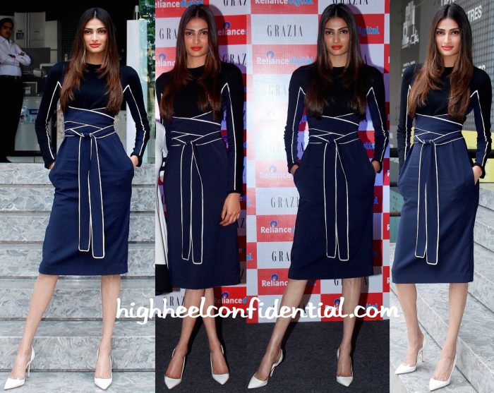 Athiya Shetty Wears Issa To The Unveiling Of Grazia September 2015 Issue-1