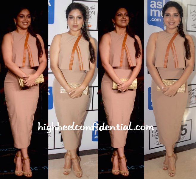 Bhumi Pednekar In Nikhil Thampi And Jimmy Choo At Lakme Fashion Week Winter:Festive 2015-1
