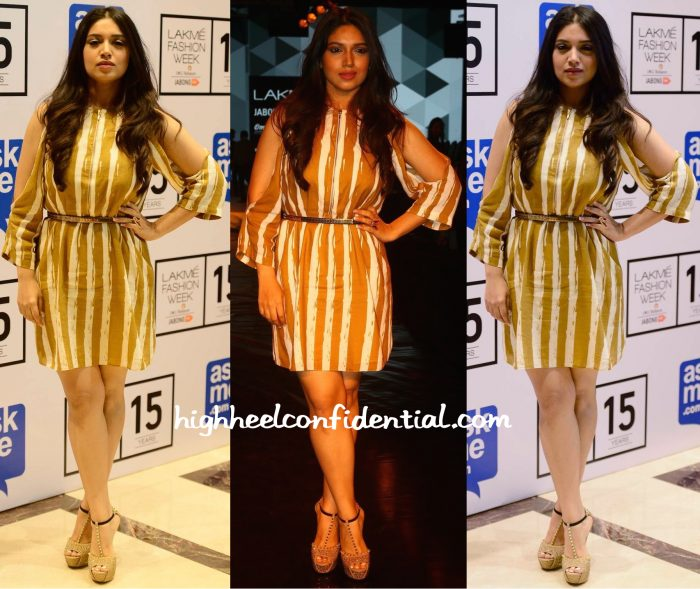 Bhumi Pednekar Wears Guapa To Lakme Fashion Week Winter:Festive 2015