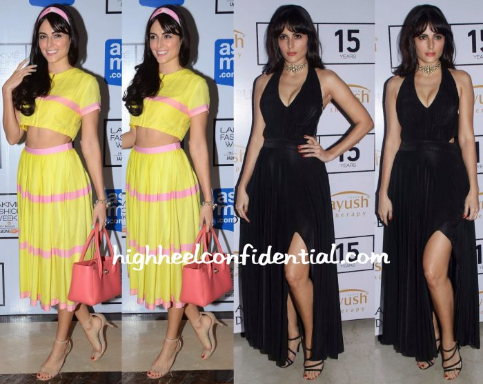 Mandana Karimi In Masaba And Sonaakshi Raaj At Lakme Fashion Week 2015