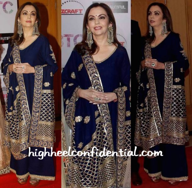 Nita Ambani In Anuradha Vakil And Bottega Veneta At Set Beautiful Free Event-1