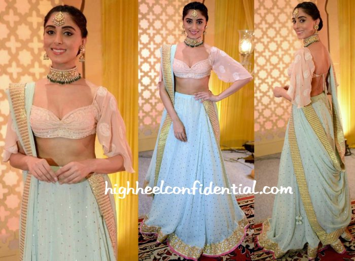 Pernia Qureshi At Manish Malhotra's Show At ICW 2015 And At The Premiere Of Jaanisaar-2