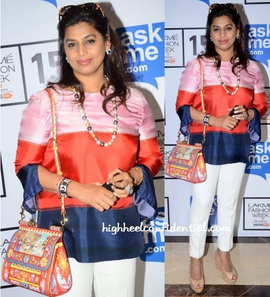 Pinky Reddy Wears Sportmax To Lakme Fashion Week Winter:Festive 2015