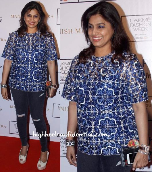 Pinky Reddy carries charlotte olympia To Lakme Fashion Week Winter:Festive 2015