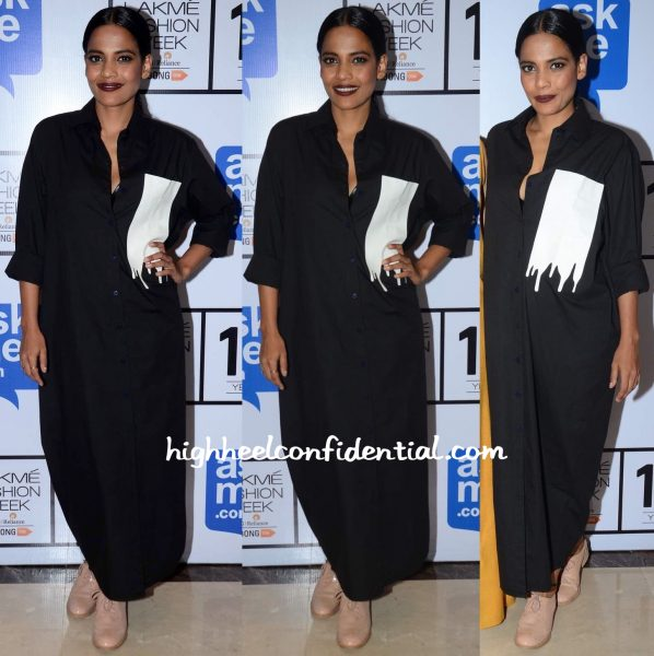 Priyanka Bose At Lakme Fashion Week Winter:Festive 2015