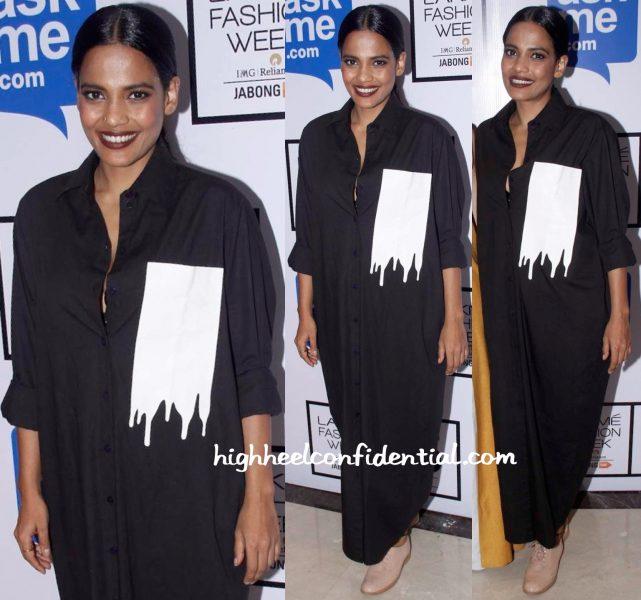 Priyanka Bose In Huemn At Lakme Fashion Week Winter:Festive 2015