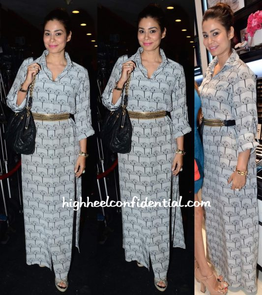 Shaheen Abbas Wears Payal Singhal To The Lancome Event