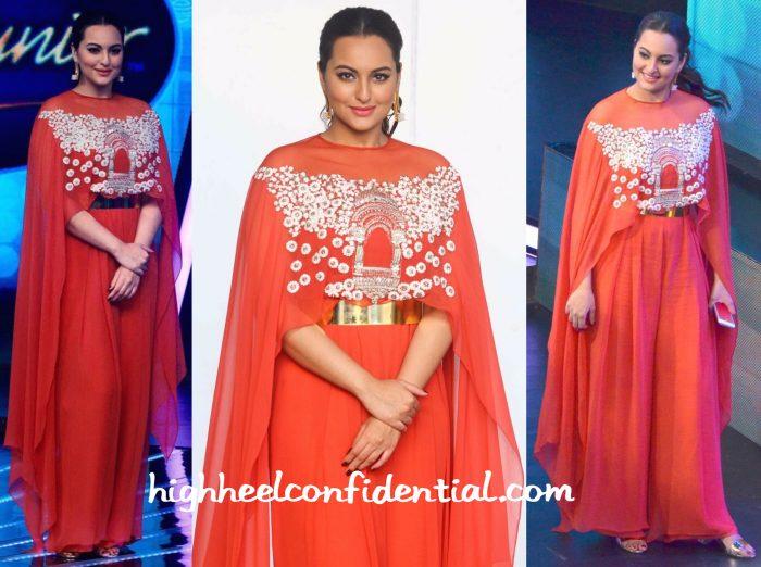 Sonakshi Sinha Wears Ridhi Mehra On Indian Idol Sets-1