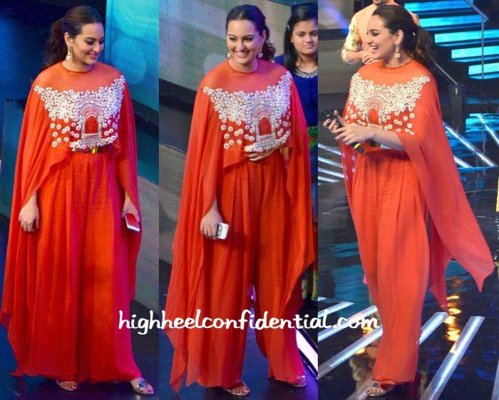 Sonakshi Sinha Wears Ridhi Mehra On Indian Idol Sets-2