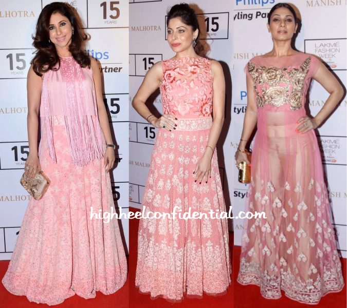 Urmila Matondkar, Kanika Kapoor And Tanishaa Mukerji At Manish Malhotra Show At Lakme Fashion Week Winter:Festive 2015-1