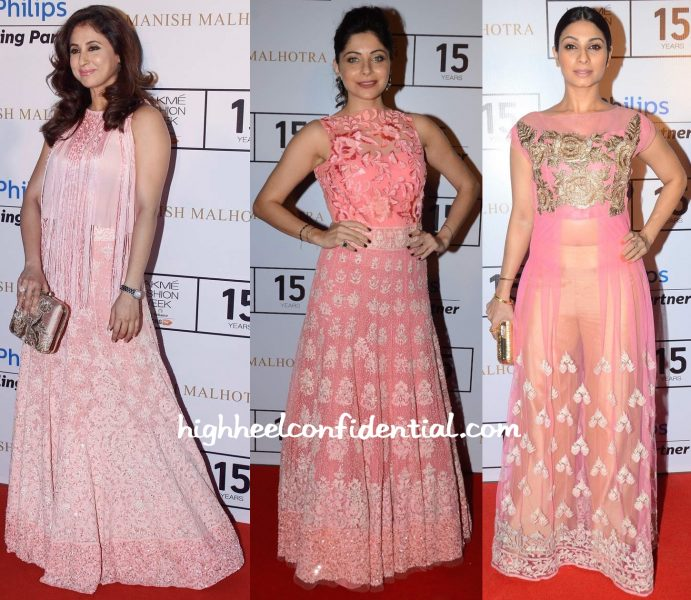 Urmila Matondkar, Kanika Kapoor And Tanishaa Mukerji At Manish Malhotra Show At Lakme Fashion Week Winter:Festive 2015-2