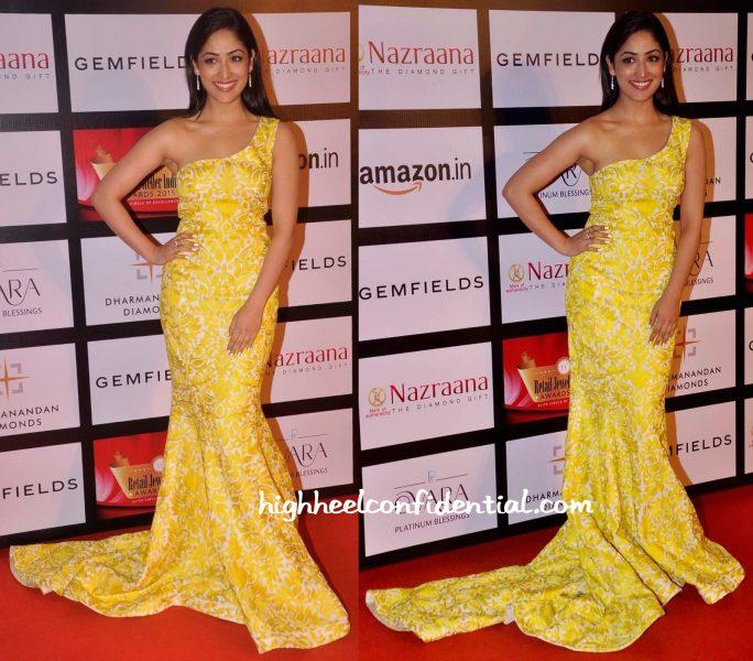 Yami Gautam In Mayyurr Girotra At Retail Jeweller India Awards 2015-2