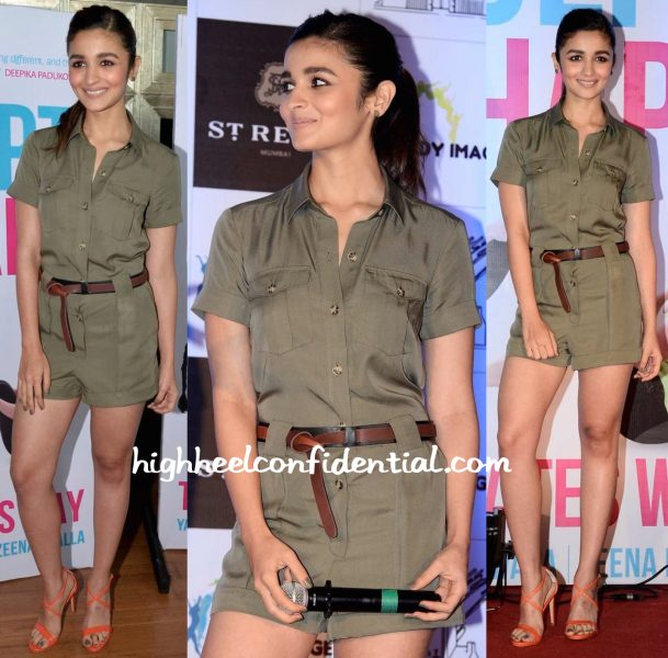 alia bhatt in karen millen at Yasmin Karachiwala Book launch-2
