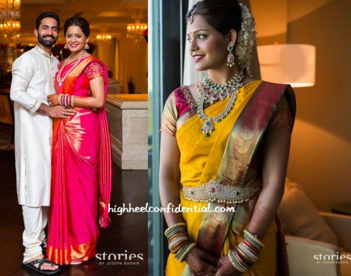 dipika-pallikal-wedding-saris
