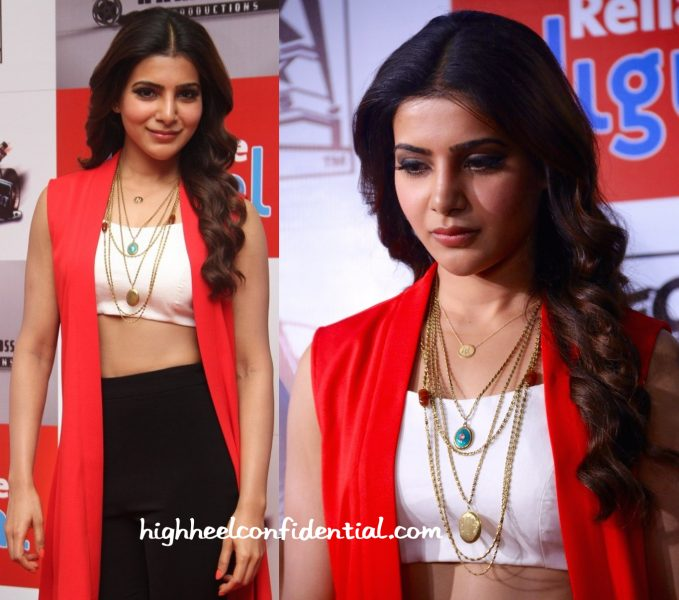 samantha ruth prabhu in koecsh at 10 Enradhukulla trailer launch-2