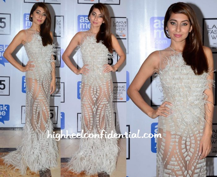Anusha Dandekar In Falguni And Shane Peacock At Lakme Fashion Week Winter:Festive 2015