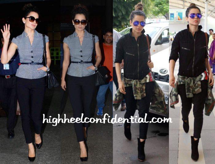 Kangana Ranaut Pgotographed At The Airport In Vero Moda, Dior And Stella McCartney-2