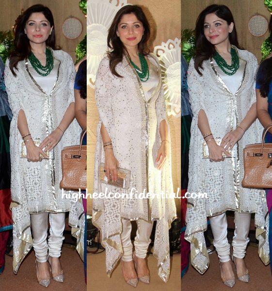 Kanika Kapoor In House Of Chikankari At IMC Exhibition 2015-1