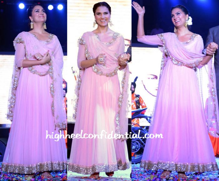 Lara Dutta At Singh Is Bliing Promotions Delhi-1
