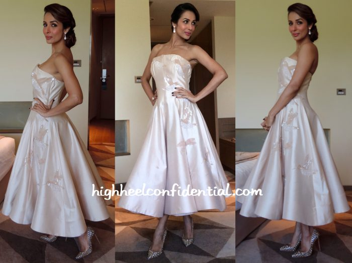 Malaika Arora Khan In Elio Abou Fayssal Couture For A Press Meet And Isabel Sanchis On Jhalak Dikhhla Jaa Reloaded Sets-1