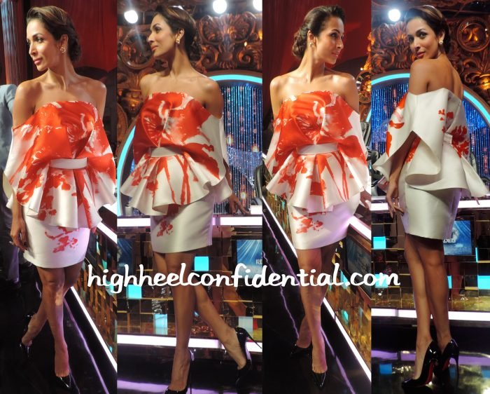Malaika Arora Khan In Elio Abou Fayssal Couture For A Press Meet And Isabel Sanchis On Jhalak Dikhhla Jaa Reloaded Sets-2