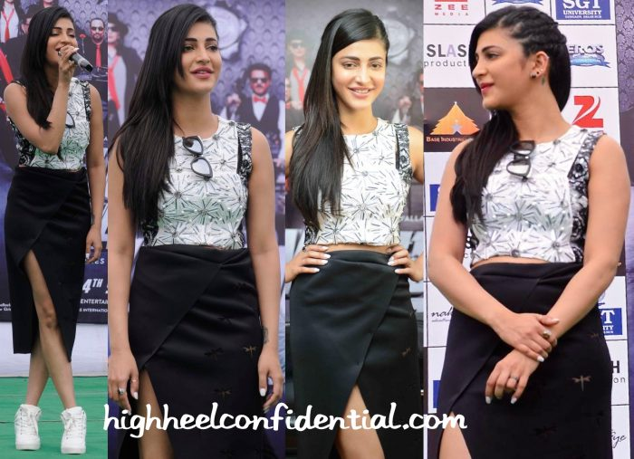 Shruti Haasan In Vidhi Wadhwani For Welcome Back Promotions-2