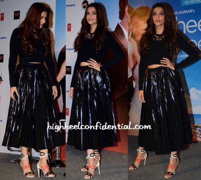 Sonam Kapoor In Proenza Schouler And Aquazzura At Dheere Dheere Song Launch-2