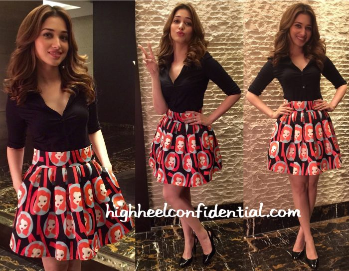 Tamannaah Bhatia Wears Mango On The Sets Of Sa Re Ga Ma Pa Lil Champs Telugu