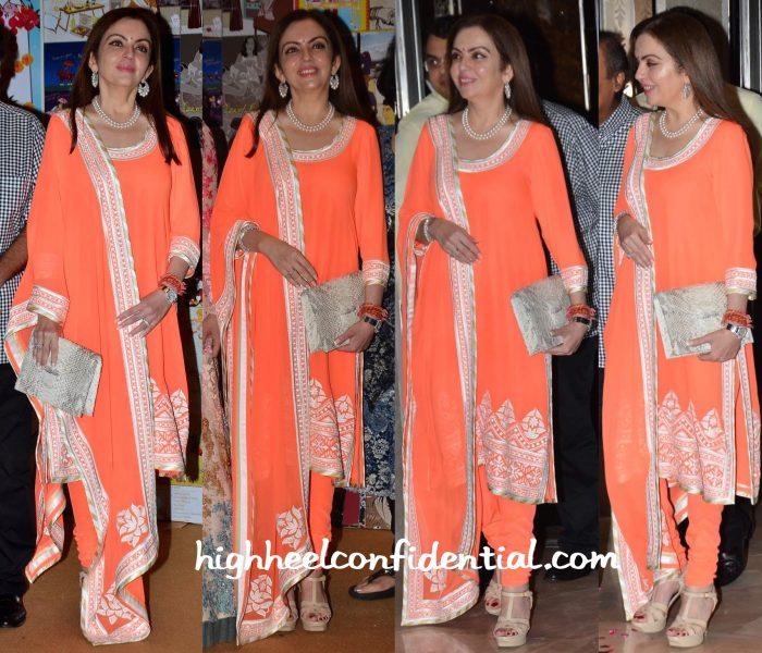 Tina Ambani In Abu Jani Sandeep Khosla At Sakshi Salve Book Launch