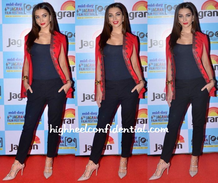 Amy Jackson In Nisha Sainani And House Of Shikha At Jagran Film Festival 2015