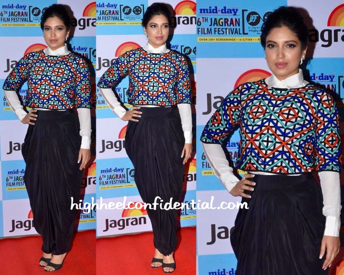 Bhumi Pednekar In Urvashi Joneja At Jagran Film Festival 2015-1
