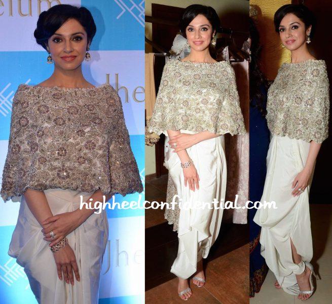 Divya Khosla Kumar In Anamika Khanna At Jhelum Store Launch-1