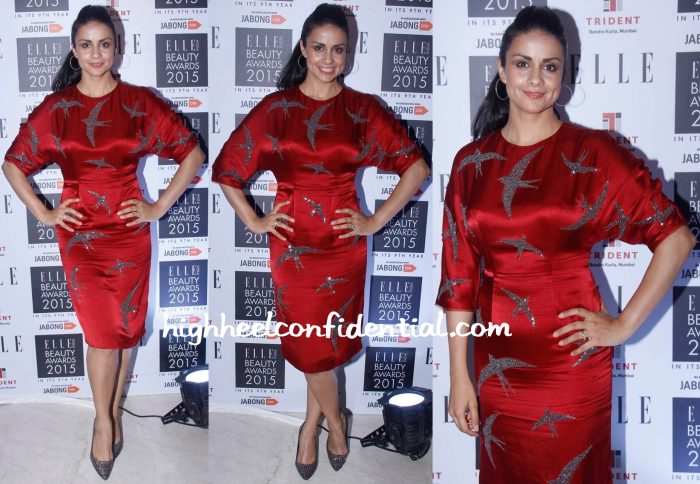 Gul Panag In Nachiket Barve At Elle Beauty Awards 2015