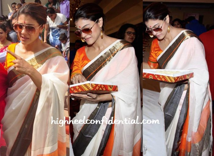 Kajol Photographed At Durga Puja Celebrations-2