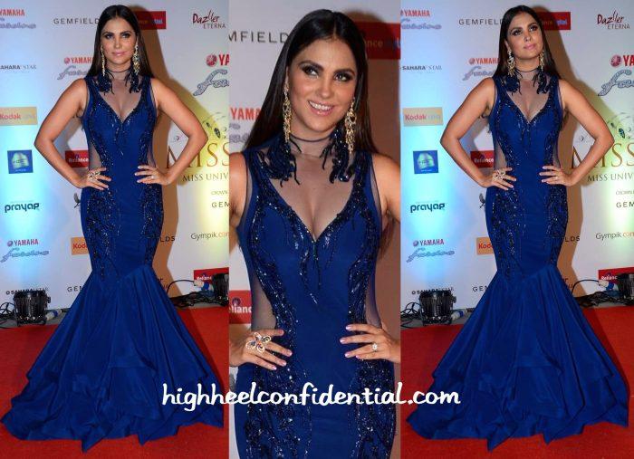 Lara Dutta In Gaurav Gupta At Miss Diva 2015-1