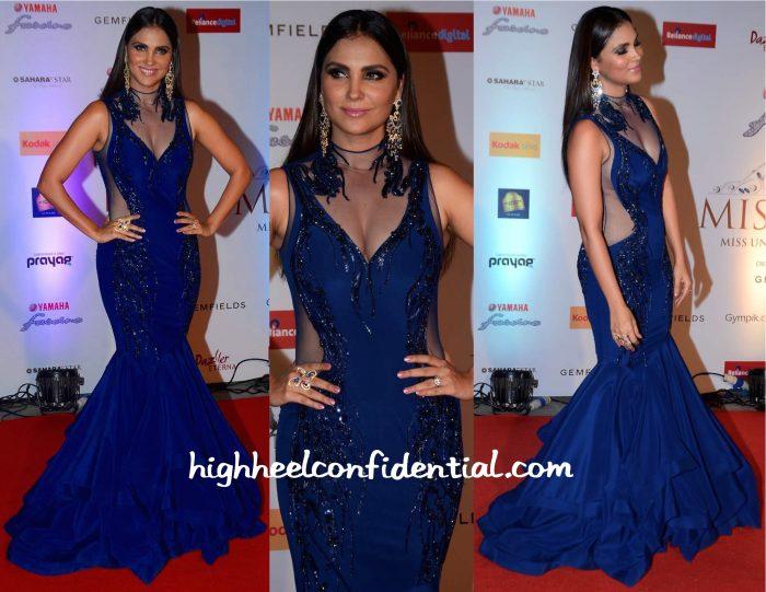 Lara Dutta In Gaurav Gupta At Miss Diva 2015-2