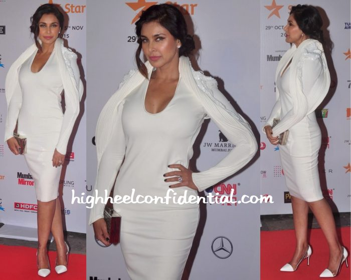 Lisa Ray In Gaurav Gupta At MAMI 2015 Mumbai Film Festival Opening Night-2